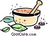 Mortar and Pestle Vector Clipart picture