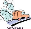 Vector Clipart picture  of a Minivans
