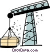 Vector Clipart picture  of a Shipping Cranes