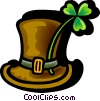 St. Patrick's Day hat with shamrock Vector Clipart picture