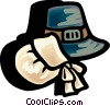 Vector Clip Art graphic  of a Pioneer hats