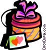 Vector Clip Art image  of a valentines day gift