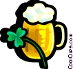 Shamrock and beer Vector Clipart picture