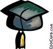 graduation cap Vector Clipart picture