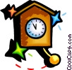 Vector Clip Art image  of a Wall clock