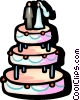 Wedding cake Vector Clip Art graphic
