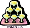 Vector Clipart graphic  of a champagne