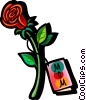mothers day rose Vector Clipart graphic