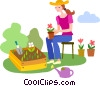 Vector Clipart picture  of a Gardeners