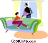 Couples and Romance Vector Clipart illustration