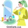 Vector Clip Art graphic  of a Toothbrushes