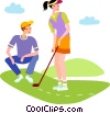 Vector Clipart graphic  of a Golf