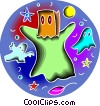 Ghosts Vector Clipart illustration