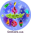 Vector Clip Art picture  of a Christmas decorations