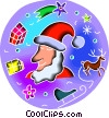 Santa Vector Clipart graphic