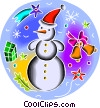 Snowmen Vector Clipart graphic