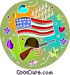 Veterans Rememberance Memorial Day Vector Clipart illustration