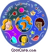 Misc Women Vector Clipart illustration