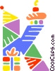 Vector Clip Art graphic  of a School Subjects