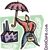 Vector Clipart graphic  of a Group Insurance