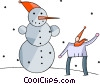 Vector Clip Art graphic  of a Snowmen Snowman