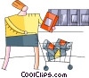 Miscellaneous Grocery Store Items Vector Clipart illustration