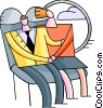 Vector Clip Art image  of a Passenger Compartment