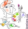 painters Vector Clip Art picture