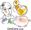 Piggy Banks Vector Clipart illustration