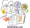 Vector Clip Art graphic  of a Projectors
