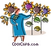 Vector Clipart graphic  of a Gardeners