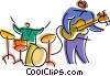 Vector Clip Art picture  of a Rock Musicians