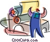 Vector Clip Art picture  of a Printing Trade