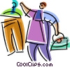 Vector Clipart picture  of a Irons Ironing