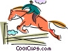 Horse jumping Vector Clip Art graphic