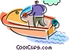 Pleasure Boat Vector Clipart graphic