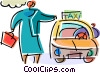 Vector Clipart illustration  of a Taxis