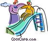 Children in Summer Vector Clipart graphic