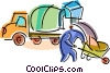 Vector Clip Art image  of a Cement Mixers
