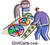 Assembly Lines Vector Clipart illustration