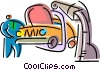 Vector Clip Art graphic  of an Auto Mechanics