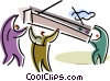 Trades People Vector Clipart image