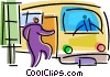 Vector Clip Art image  of a Urban Transportation