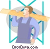 Vector Clipart picture  of a Carpenters