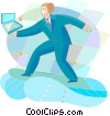 Surfing Vector Clip Art graphic