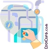 Vector Clipart graphic  of a Machinery