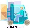 Fork Lifts Vector Clipart illustration