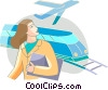 Vector Clipart graphic  of a Passengers