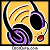 Vector Clip Art graphic  of a Headsets