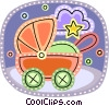 Strollers and Carriages Vector Clip Art picture